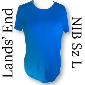 NIB Lands' End size L cotton/modal/spandex tshirt
